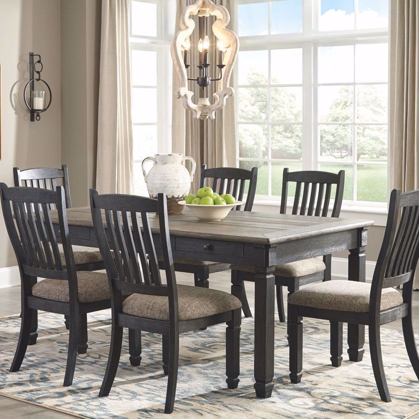 Antiquity Grey 7 Piece Dining Room Set By Ashley Furniture Industries Lifestyle Furnitue By Babette S Antiquity Grey Din