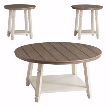 Picture of Delta  Two Tone 3 Piece Table Set
