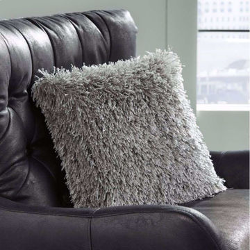 Picture of Jasmen Grey Shag Pillow