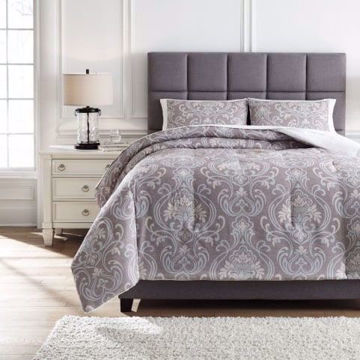 Picture of Noel Gray and Tan King Comforter Set