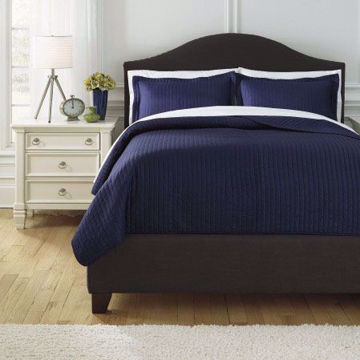 Picture of Raleda Navy Queen Comforter Set