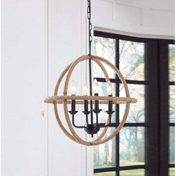 Picture of Madelia Tan Jute Pendant Light