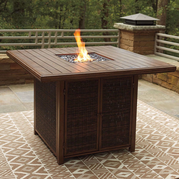 Picture of Denver Square Bar Table with Fire Pit
