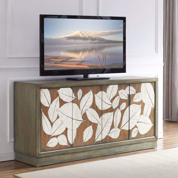 Picture of Foliage Brown Four Door Media Credenza