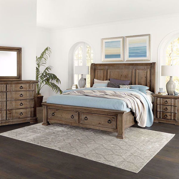 Picture of Jasmine King Sleigh Storage Bed