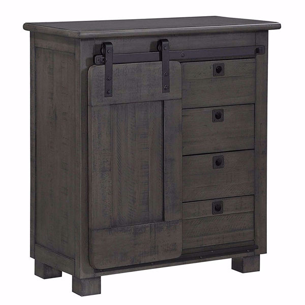 Picture of One Sliding Door Four Drawer Cabinet