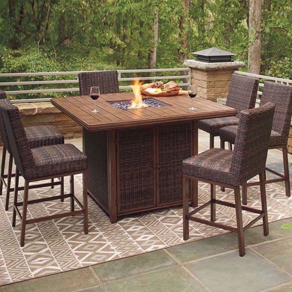 Picture of Denver 7 Piece Outdoor Firepit Table Set