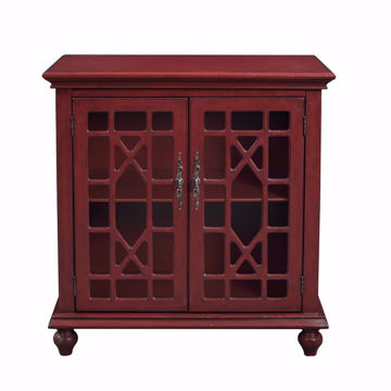 Picture of Esnon Texture Red 2 Door Cabinet