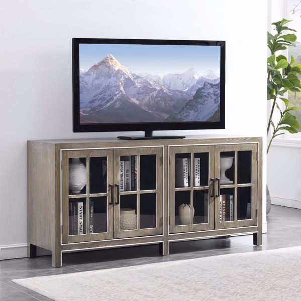 Picture of Windowpane Four Door Media Credenza