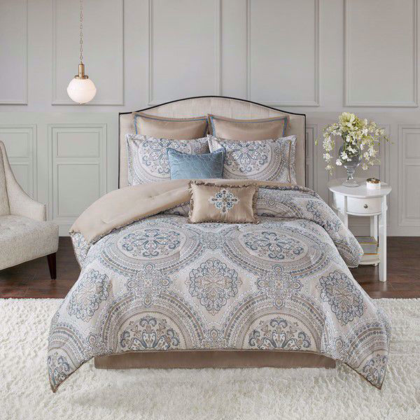 Picture of Abella 8 Piece Jacquard Comforter Set