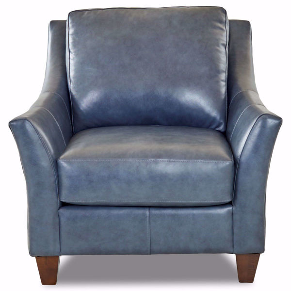 Picture of Ella Indigo Leather Chair