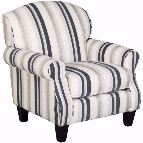 Picture of Cecile Cobalt Stripe Accent Chair