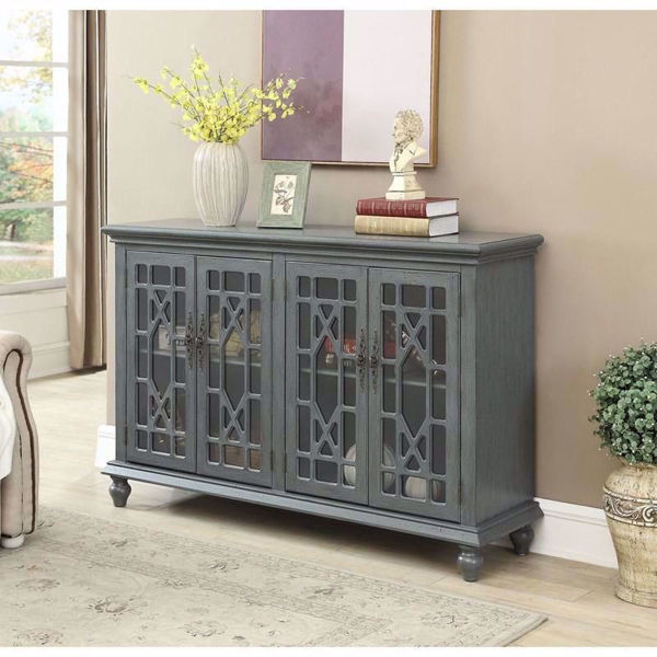 Picture of Joplin Textured Grey 4 Door Media Credenza