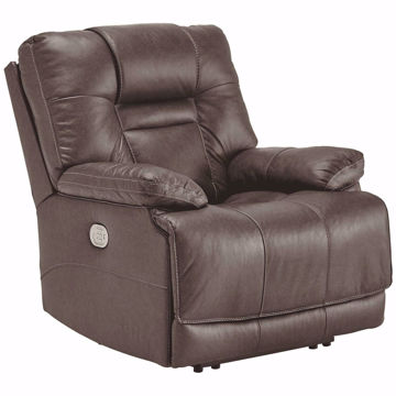 Picture of Truman Umber Leather Power Recliner