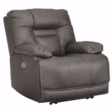 Picture of Truman Gray Leather Power Recliner