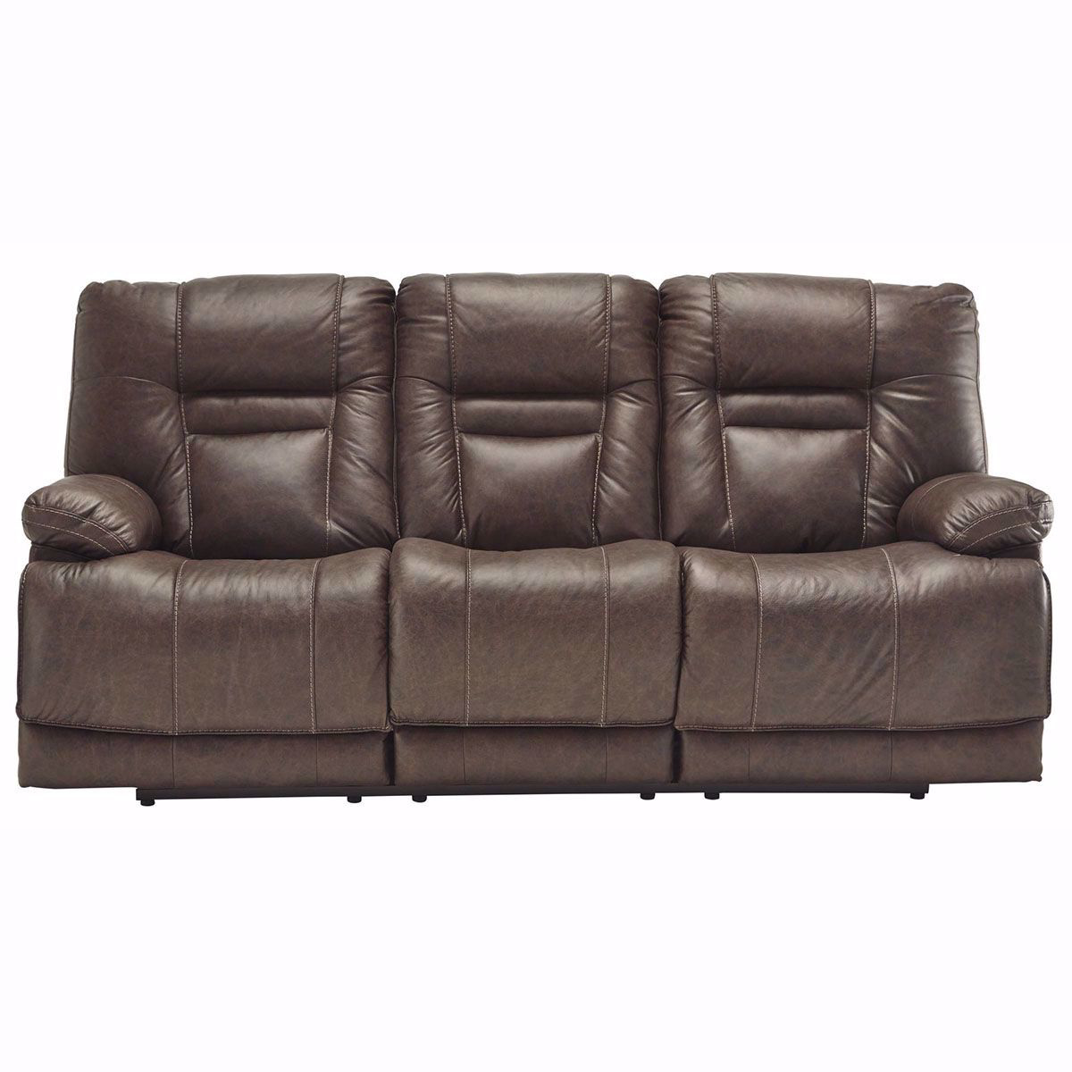 Picture of Truman Umber Leather Power Sofa