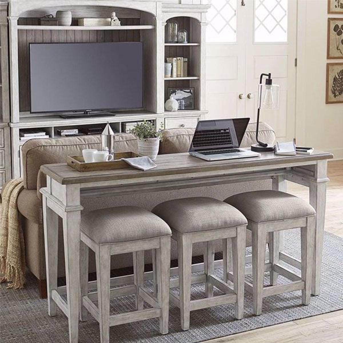 Picture of Piazza 4 Piece Console and Stool Set