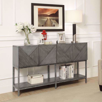 Picture of Magnet Burnished Grey 4 Door Media Console