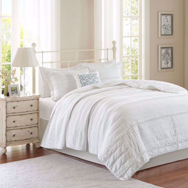 Picture of Celeste White 4 Piece Coverlet Set