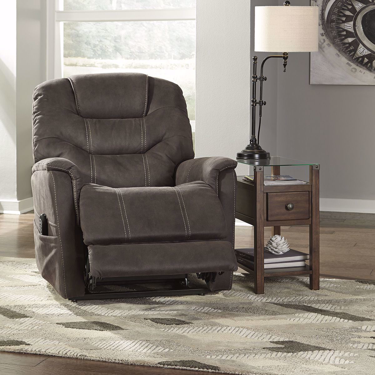 Picture of Gunmetal Power Lift Recliner