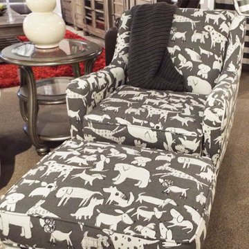 Picture of Doggie Graphite Accent Chair