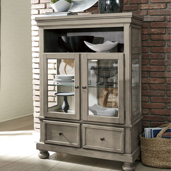 Picture of Kenley Gray Curio Cabinet