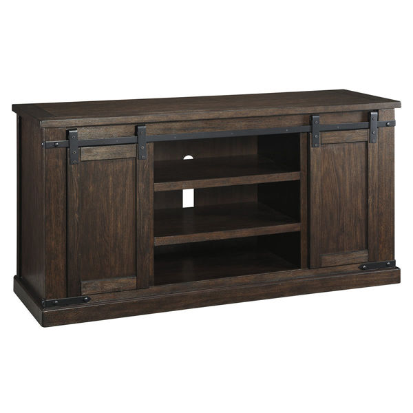 Picture of Waco Barn Door Large Brown Media Console