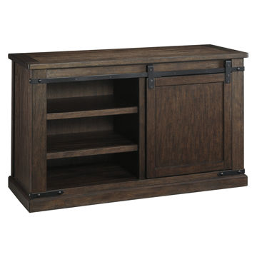 Picture of Waco Barn Door Small Brown Media Console