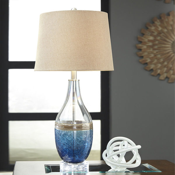 Picture of Johanna Blue Glass Table Lamp