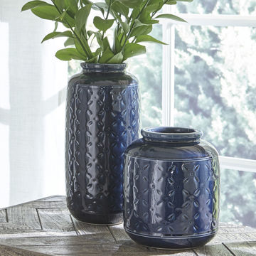 Picture of Marenda Navy Blue Vase Set