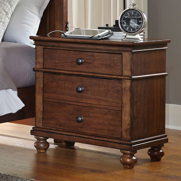 Picture of Oxford Whiskey Brown 2 Drawer Nightstand