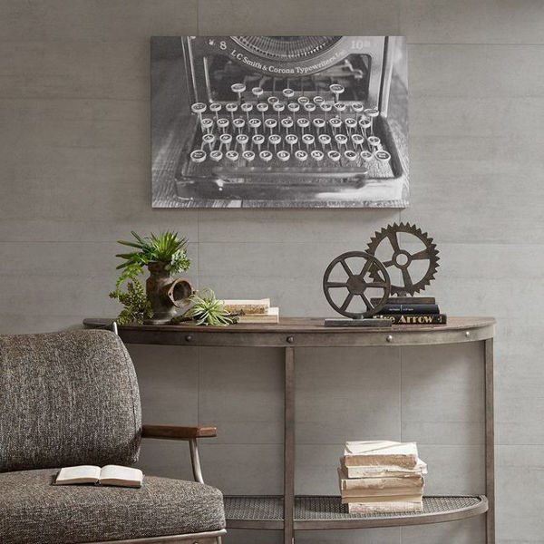 Picture of Vintage Typewriter Gel Coated Canvas