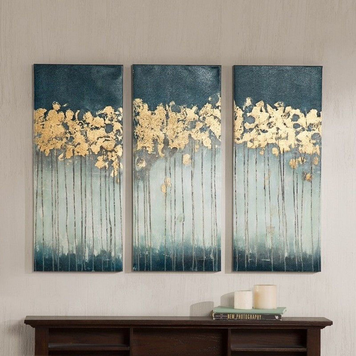 Picture of Midnight Forest Gel Coat Canvas 3 Piece Set