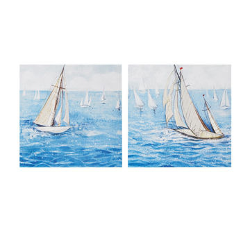 Picture of Sailing Regatta 2 Piece Canvas Art Set Gel Coating