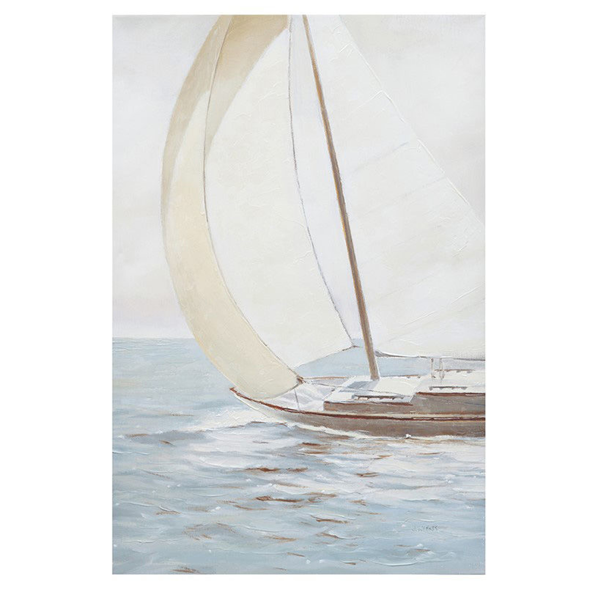 Picture of Sail Away Knife Palette Paint Canvas