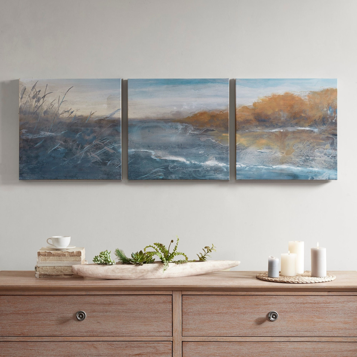 Picture of River Side Multi Gel Coated Canvas Set of 3