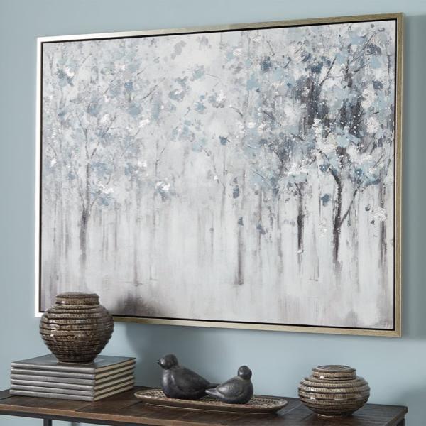 Picture of Brecklin Blue / Gray Tree Landscape