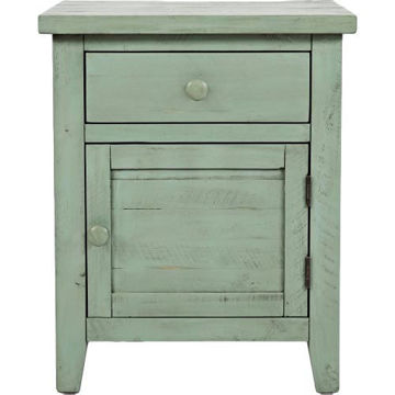 Picture of American Folklore Antique Sage Accent Table