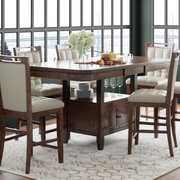 Picture of MANCHESTER BROWN 7PC TALL DINING SET