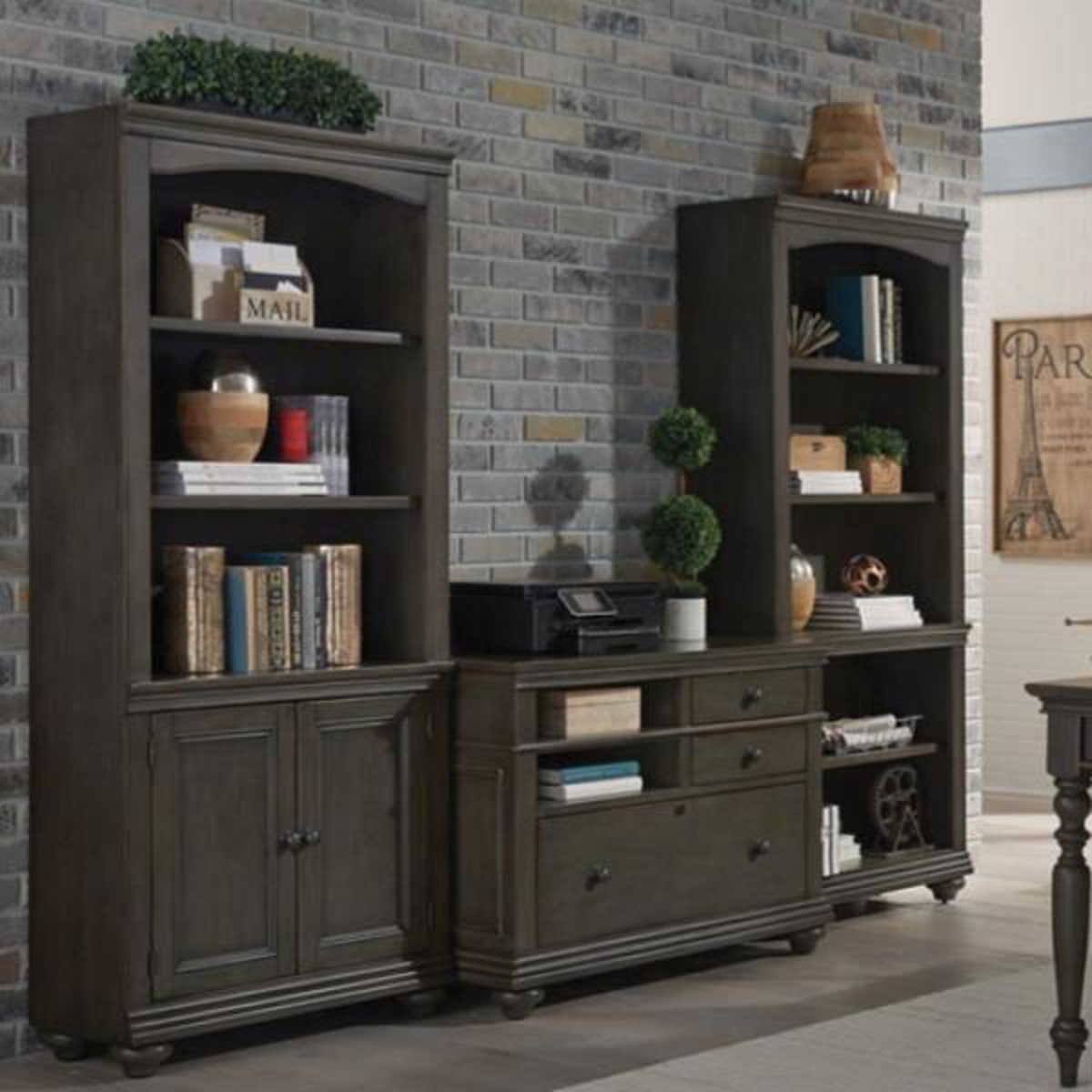 Picture of OXFORD BOOKCASE WITH DOORS