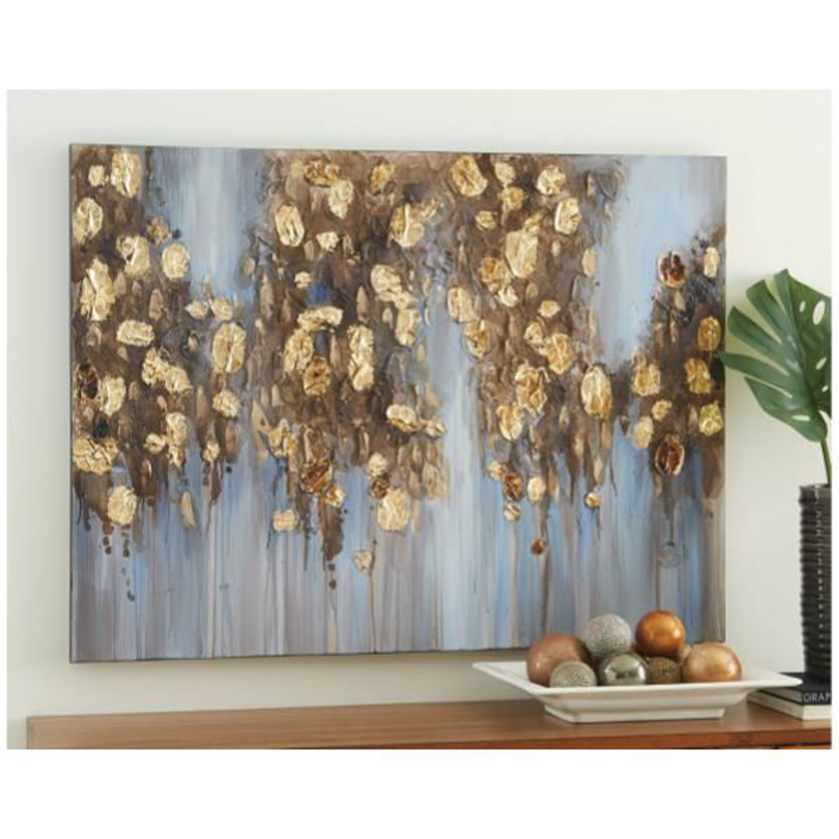 Picture of DONIER GOLD ABSTRACT CANVAS