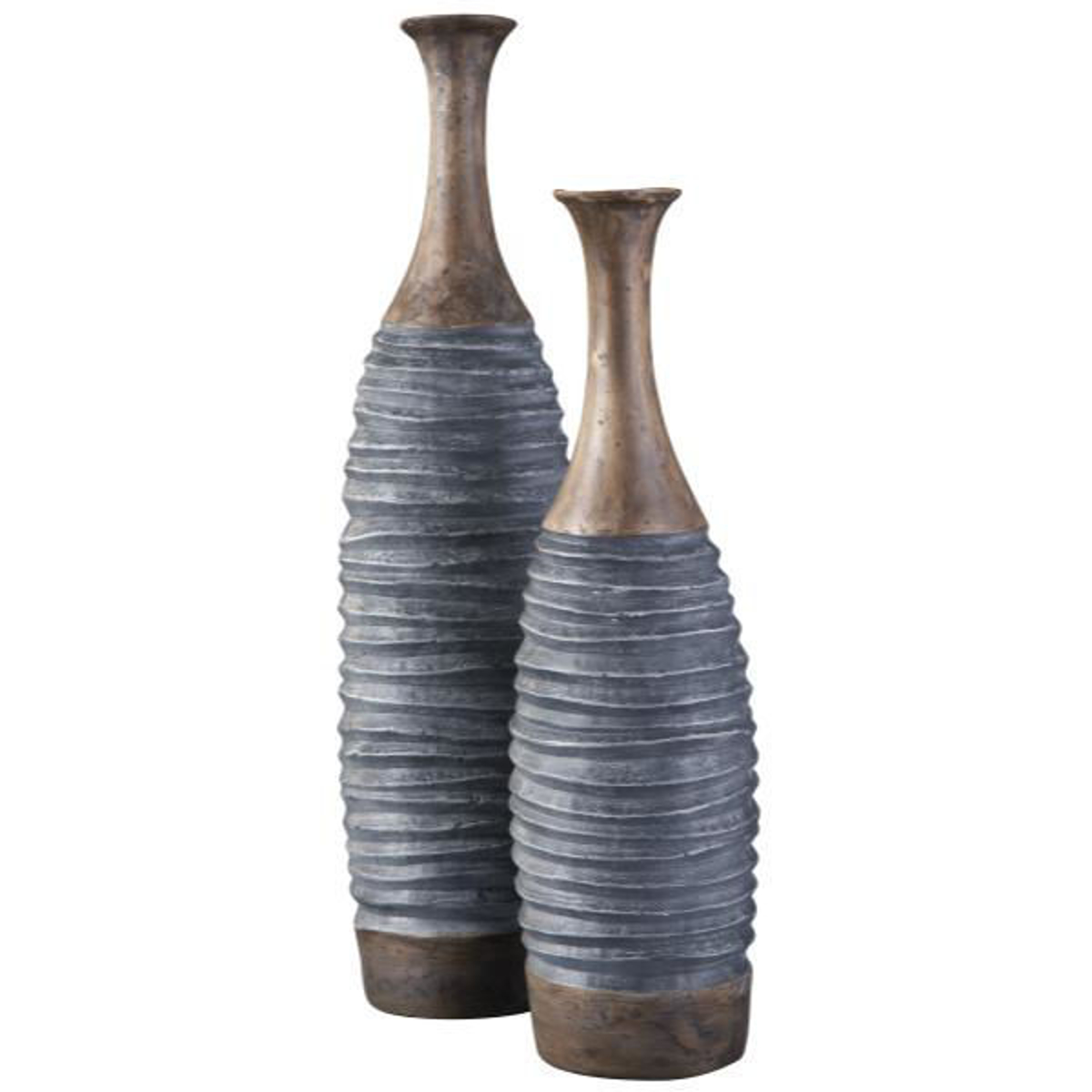 Picture of BLAYZE S/2 GRAY/BROWN VASES