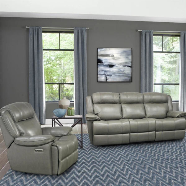 Picture of ECLIPSED LEATHER SOFA W/ POWER HEADREST