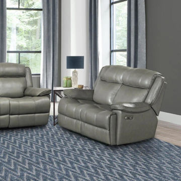 Picture of ECLIPSED LEATHER LOVESEAT W/ POWER HEADREST