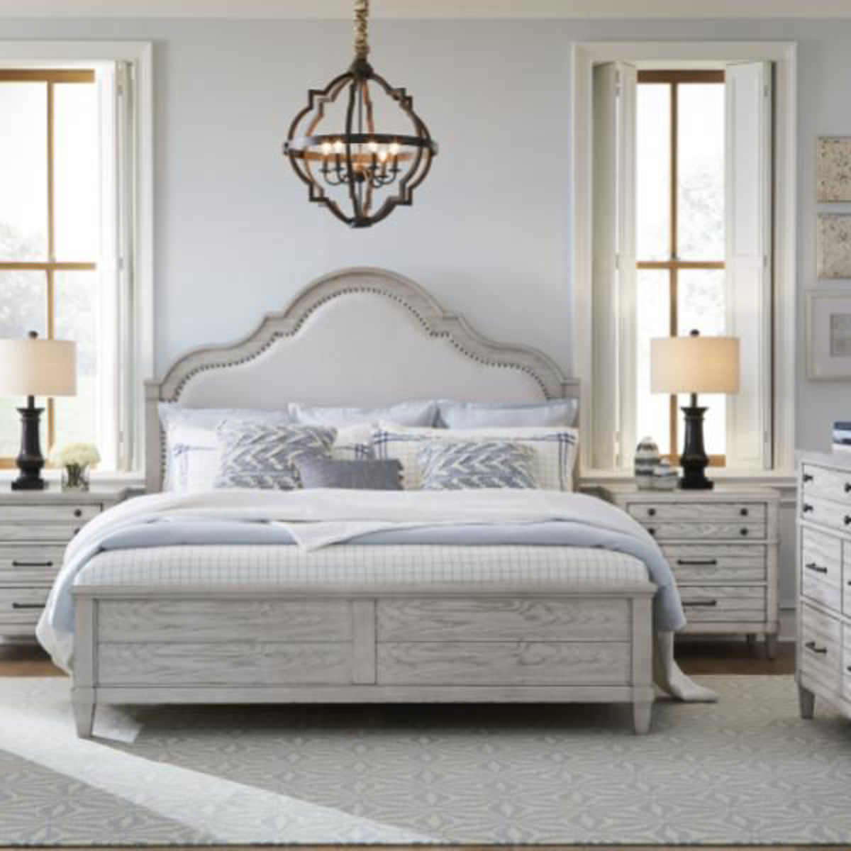 Picture of Bellhaven Upholstered Panel Bed