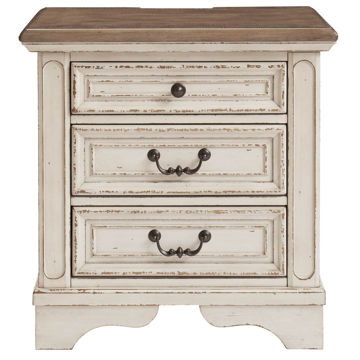 Picture of Roslyn 3 Drawer Nightstand