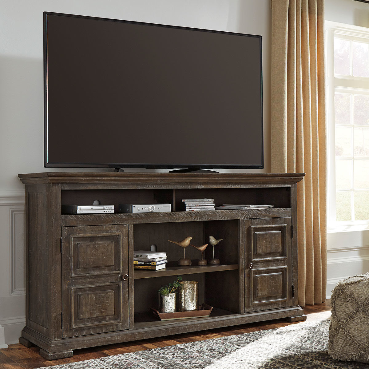 """Picture of WYATT 72"""" TV STAND W/FIRE OPT"""