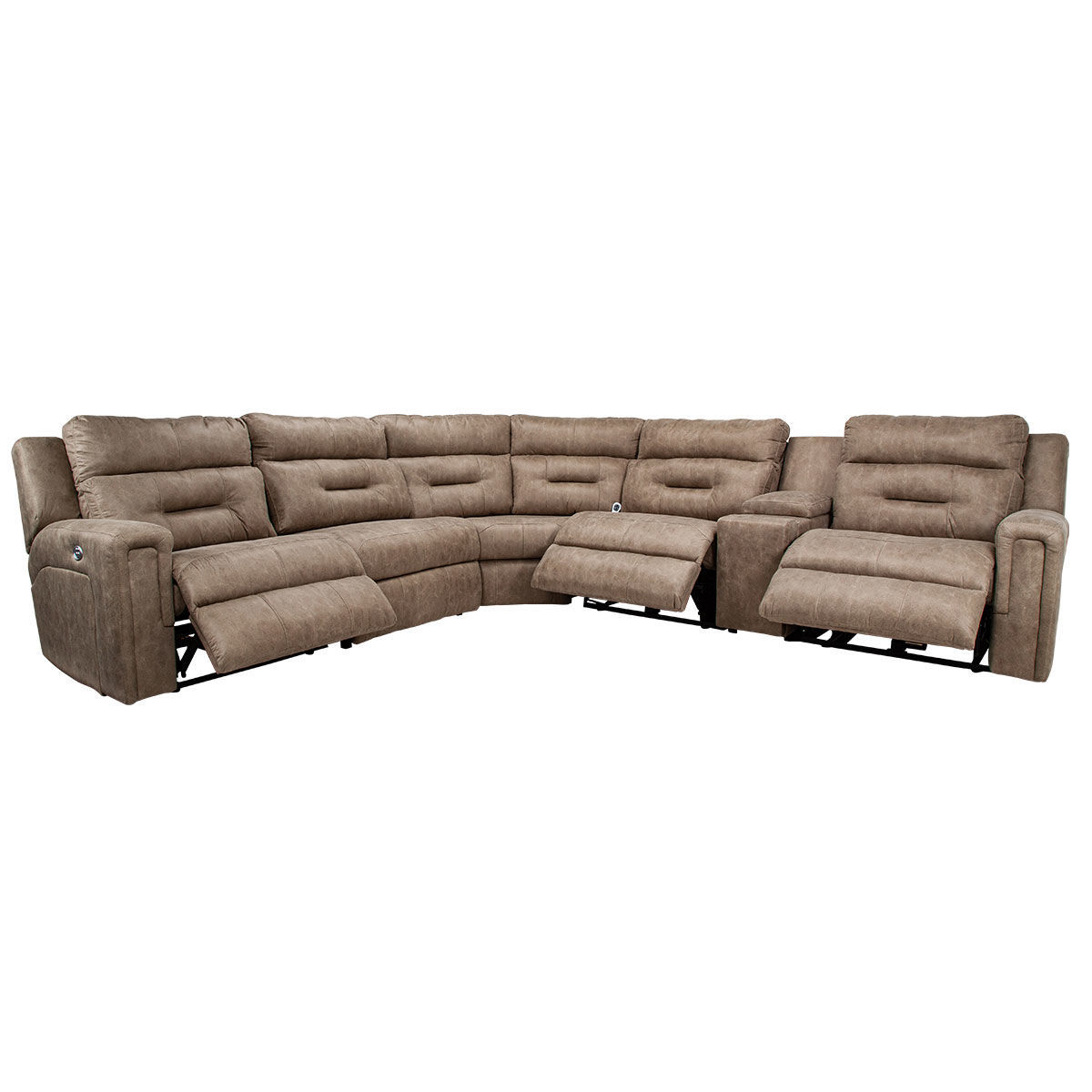 Picture of CHASE 6PC SECTIONAL W/CONSOLE & POWER HEADREST