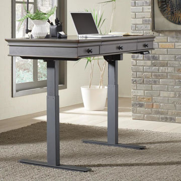 Picture of Oxford Adjustable Desk Set in Peppercorn