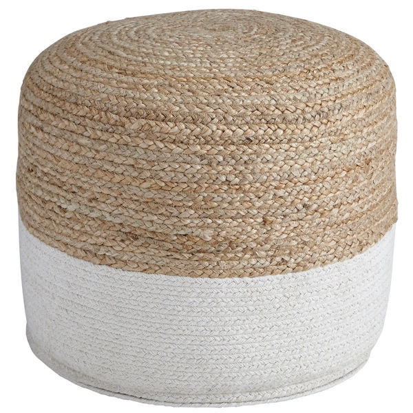 Picture of SWEED VALLEY WHITE/TAN  POUF